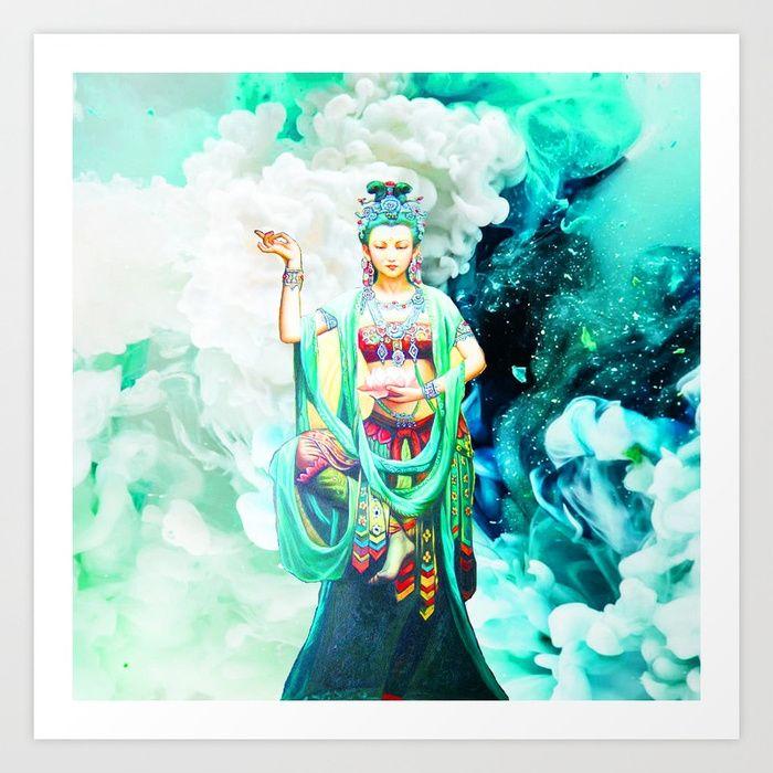 The #Goddess of #Mercy Art Print #Christmas #Spirit 25% OFF EVERYTHING #sales #Wallart #Tapestry #decor #homedeco #interior #instadecor #arquitetura #decoração #interiors #popart #colorful #funky #fancy #christmasart #XmasFever #kwanyin #reiki #namaste https://society6.com/product/the-goddess-of-mercy-947_print