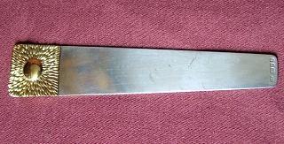 Modern Design Silver Bookmark    London 1983  Stuart Devlin  Length: 10cm