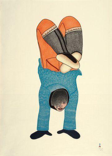Handstand (2010)  by Shuvinai (Suvinai) Ashoona