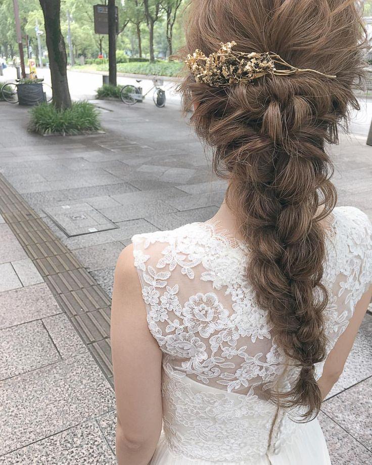 いいね!1,720件、コメント7件 ― ɢᴇɴᴅᴀɪさん(@gen_dai)のInstagramアカウント: 「Wedding hair 朝は名古屋までヘアメイクに行ってきました! お支度だけだったので名古屋の滞在時間3時間くらいでした笑 #pluiehair #bridal #wedding」