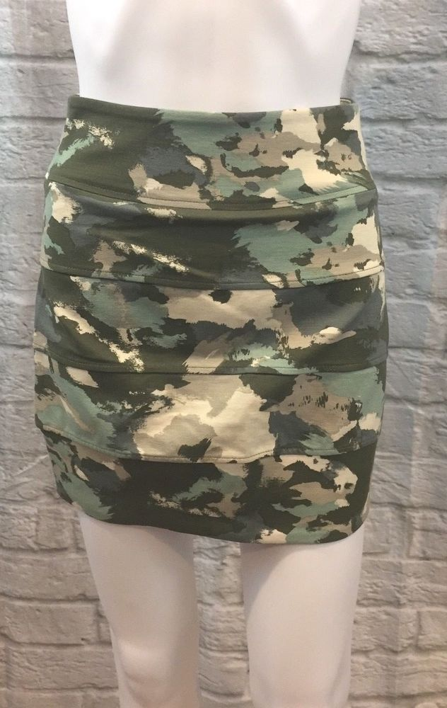 Military Camouflage Bodycon Skirt