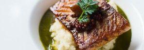 Salmon with Sorrel Sauce and Potato