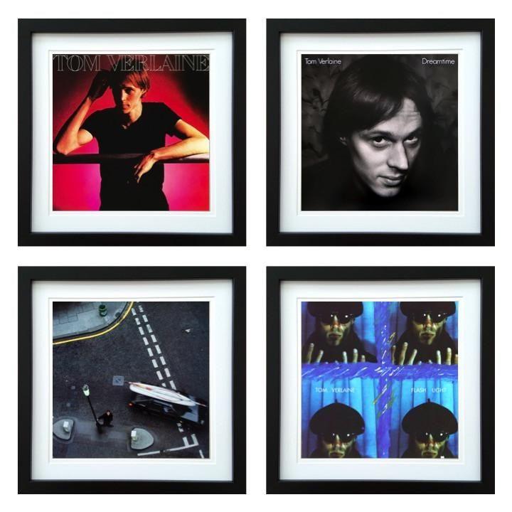 Tom Verlaine | Framed Album Art Set of 4 Images | ArtRockStore