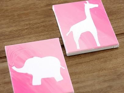 DIYNetwork.com makes it easy for your kids to create custom artwork. Download and print our various silhouettes, adhere them to a canvas then let the kids have fun painting.