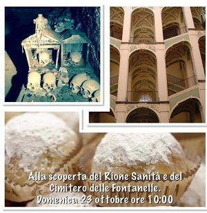 NonsoloArt propone un tour alla scoperta del rione Sanità che inizierà alla luce del sole e si concluderà nelle tenebre del Cimitero delle Fontanelle. #weekend #arte #storia #cultura #Napoli