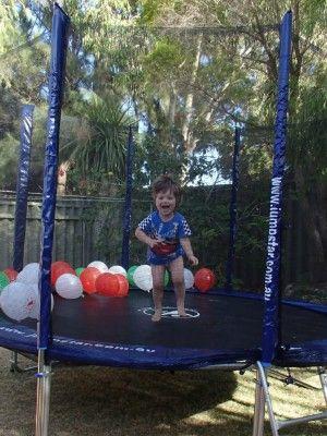 Little Jump Stars! Jump Star 8ft trampoline with enclosure & ladder ~ $250  www.jumpstar.com.au