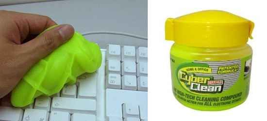 Met dit gekke groene goedje maak je makkelijk je toetsenbord schoon.