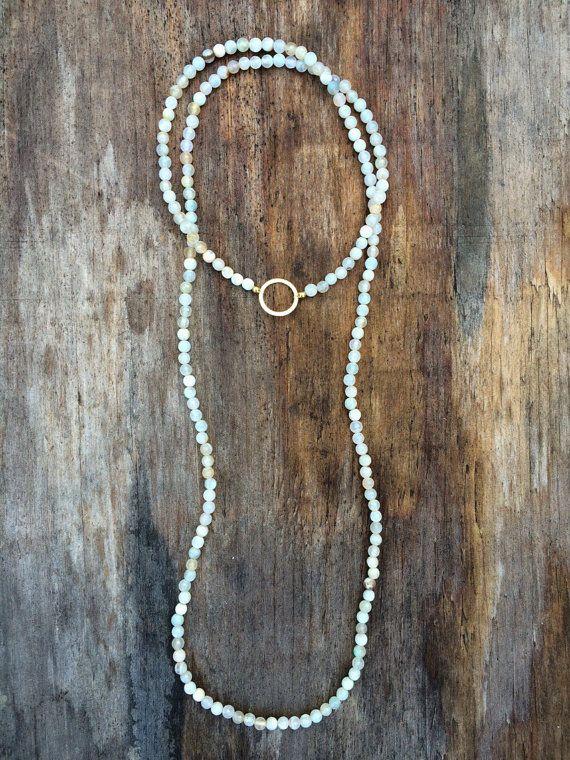 Long Beaded Double Wrap Choker Collar Necklace with by gavinaandjo