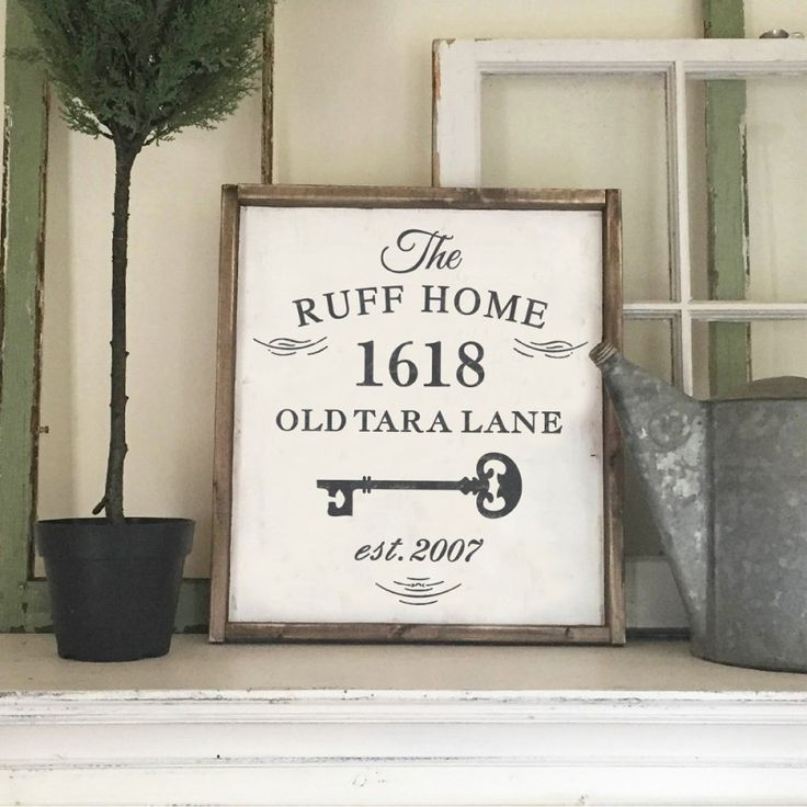 "Custom Wood Sign - Key Family Address Sign - 18""x21"" Framed Wood Sign"