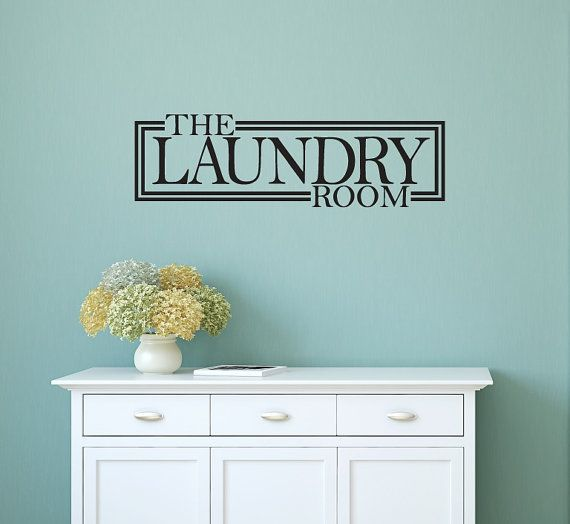 Laundry Room Decor  Laundry Room Decal  Home Decor by NewYorkVinyl