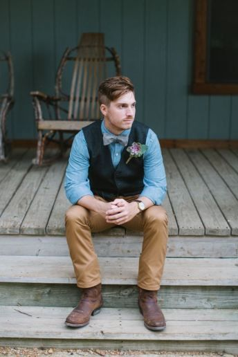 5 detalhes essenciais para um Noivo Vintage - colete #casarcomgosto
