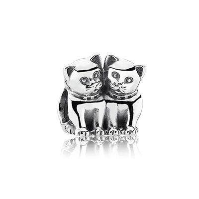 two cats pandora charm