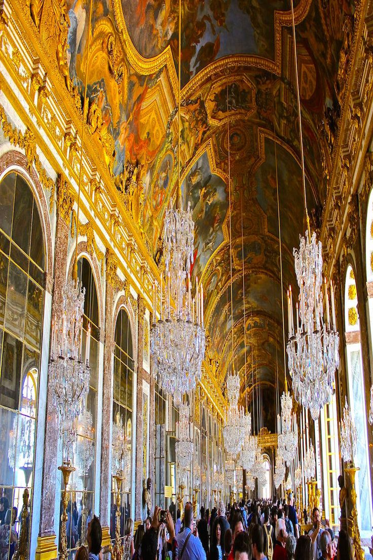 The Hall of Mirrors in Versailles France
