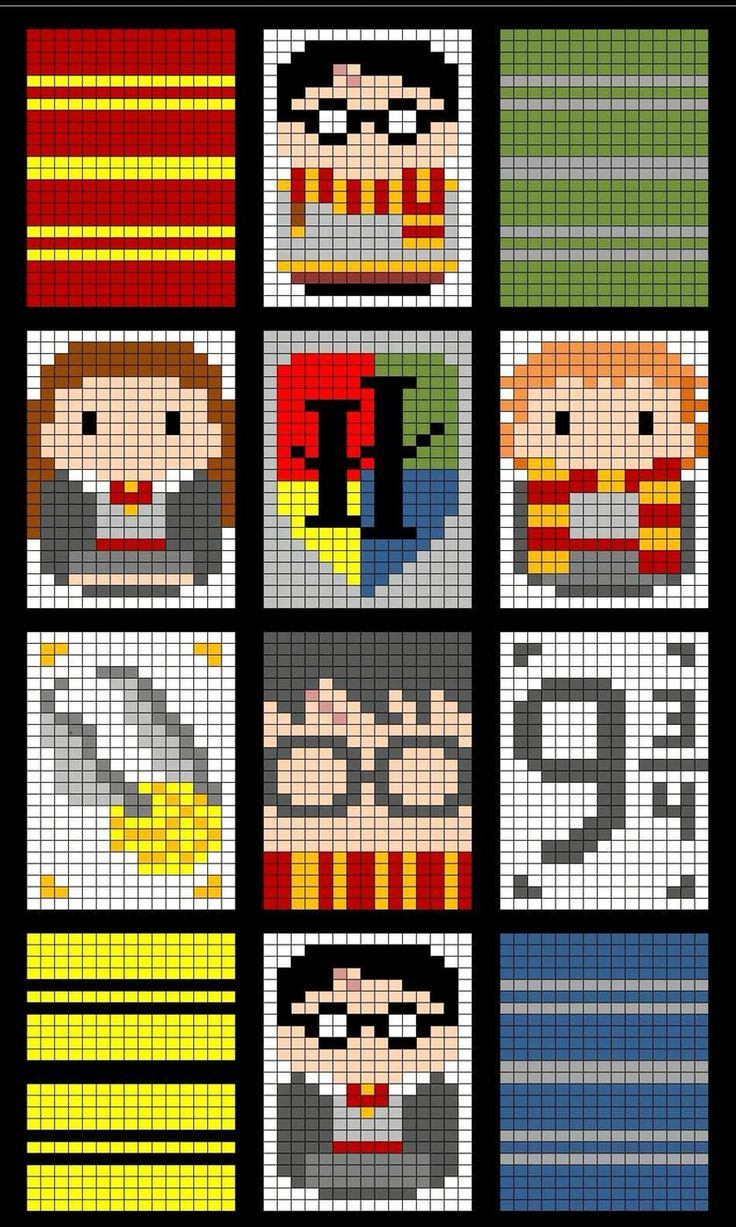 Harry Potter Harry Potter Quilt Harry Potter Perler