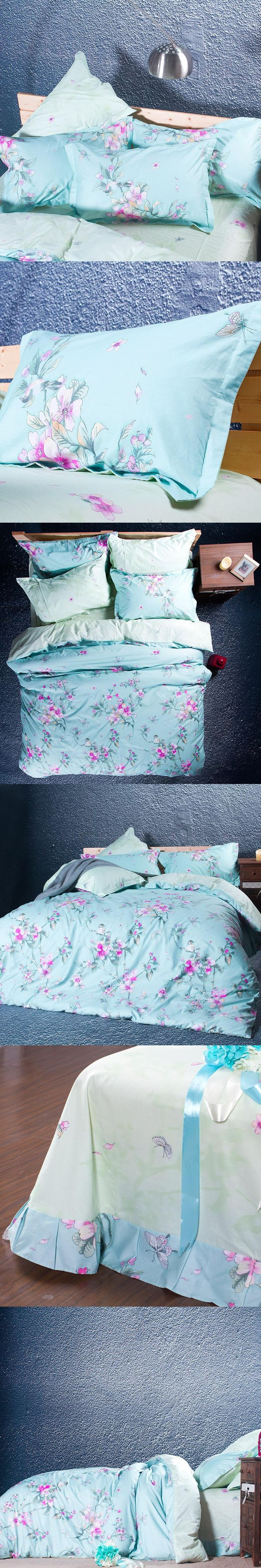 Cotton Home Textile Peach 4pcs Bedding Set Size for Twin Full Queen king  Home Hotel Bed