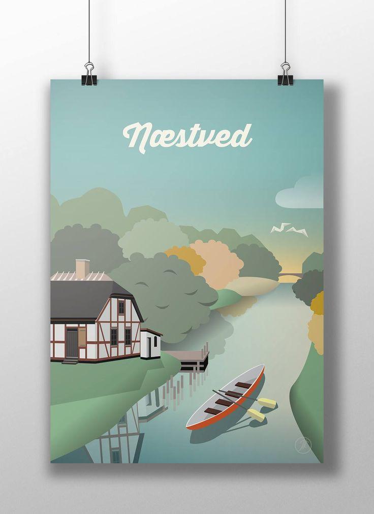 Næstved. poster, design, art, illustration, adobe, artwork, Denmark