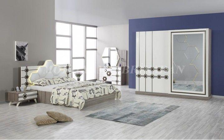 Dama şeklindeki tasarımı beyaz ve ceviz ile birleşip bu harika takımı ortaya çıkarıyor. #mobilya #inegöl #dekorasyon #modern #tasarım #yatak #oda #ceviz #beyaz #yaşam #ev #karyola #dolap