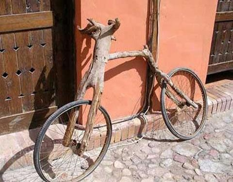 Lets get ready to ride, wooden bikes must be the most sustainable transport ever?