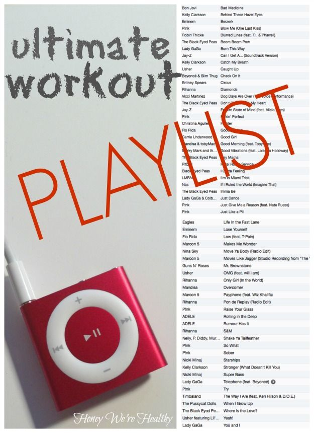 Ultimate workout playlist- 60 songs--will have to look through this