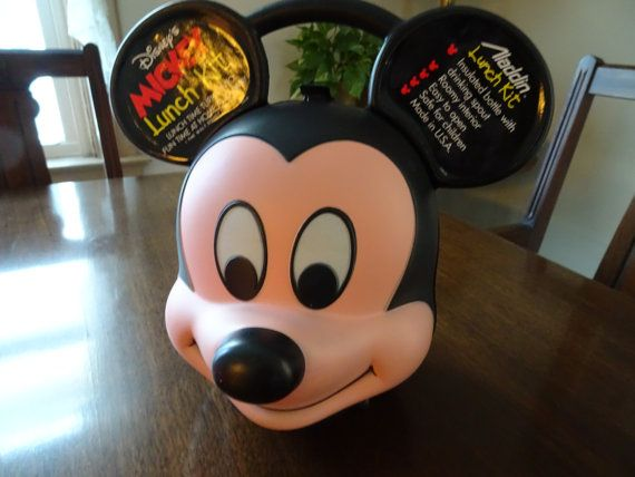 Mickey Lunch Box Micky Mouse Lunch Disney by QualityRetroWare