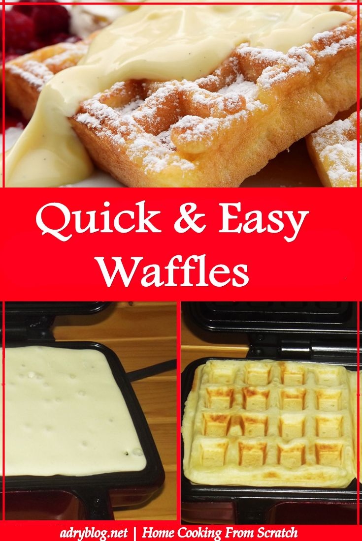 Learn to make homemade waffles! It's quick and easy and delicious!
