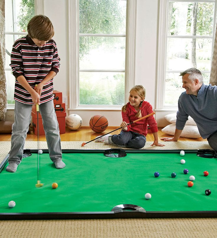 Golf Pool Indoor Game Looks like it is both fun to play and a good training activity.