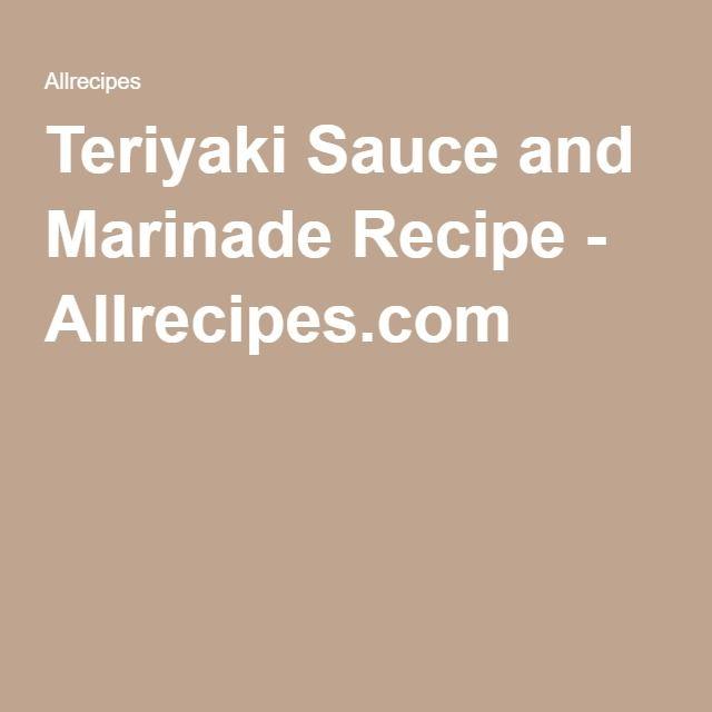 Teriyaki Sauce and Marinade Recipe - Allrecipes.com