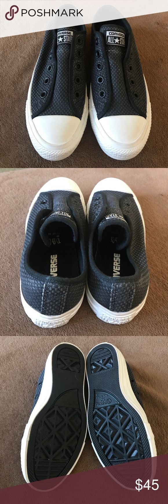 NWOT Converse slip ons 😎 woven Converse slip ons—no laces needed!  No box—price firm. Converse Shoes Sneakers