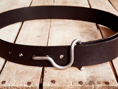 Handmade Leather Trap Belt By Chris Nealon From Black | Nuji
