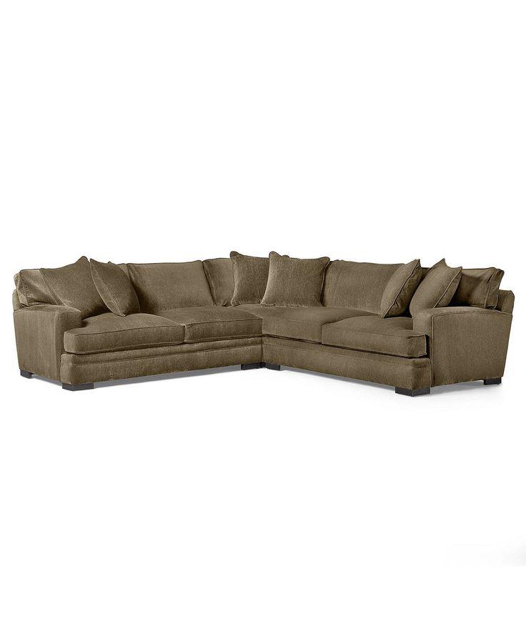 Teddy Fabric Sectional Sofa 3 Piece 115 Quot W X 115 Quot D X 30 Quot H