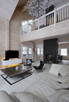 Небольшой деревянный дом с баней в скандинавском стиле