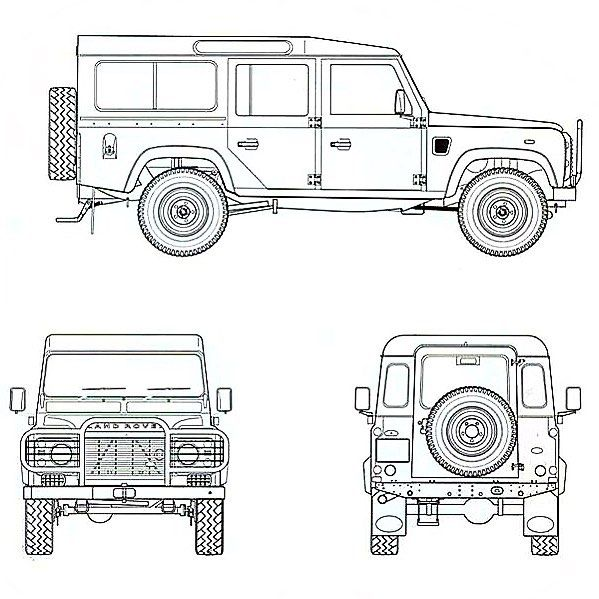 Defender 110 technical drawing. #landrover #