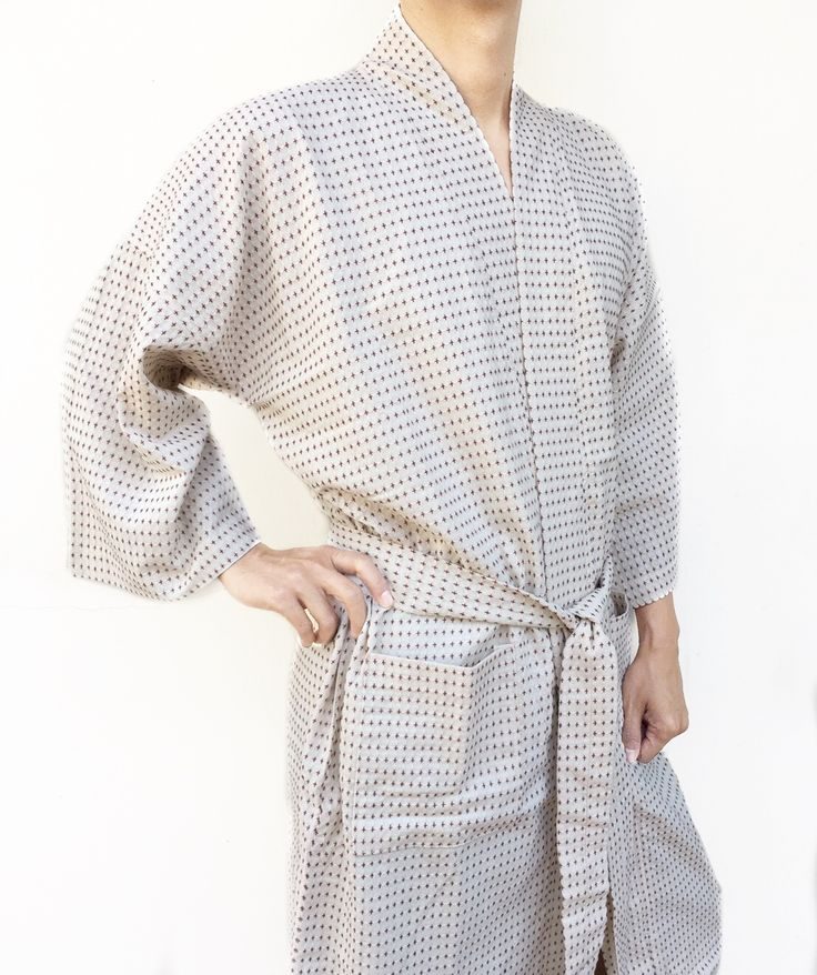 Japanese organic woven cotton kimono & yukata bathrobe. Get your own style before they sell out http://www.etsy.com/shop/AtSiam ::::: Accept on Paypal ::::: Shipping world wide #kimono #bathrobe #robe #home #etsyseller #etsyhandmade #beachwear #handcrafted #etsyshopowner #beachbody #cotton #Pajamas #cozy #summertime #relax #women #men #handmade #artoftheday #design #Yukata #Room #clothing #bathroom #Atsiam #homedecor #handmadewithlove #etsy #Luxuryhome #maternity
