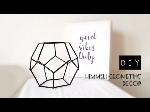 DIY Himmeli Geometric Decor | DIY Γεωμετρικό Διακοσμητικό - La creme