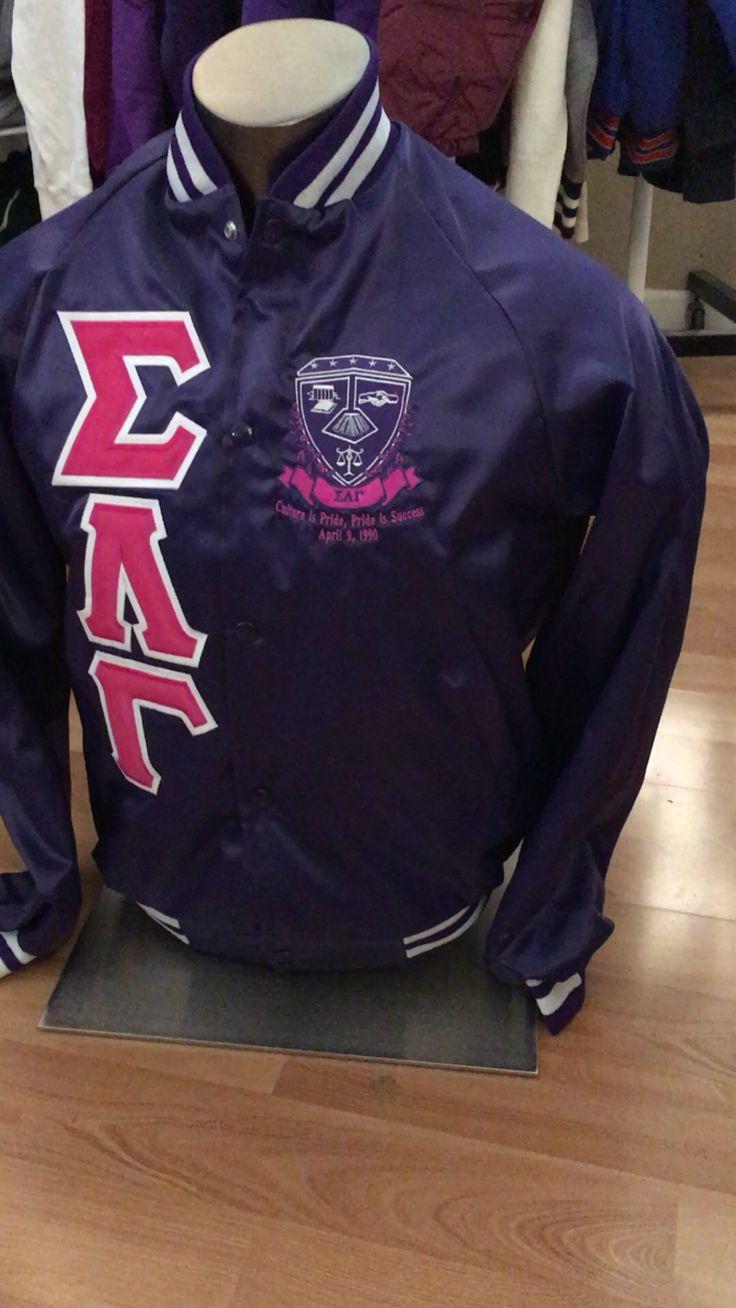 Sigma Lambda Gamma Purple Satin Jacket