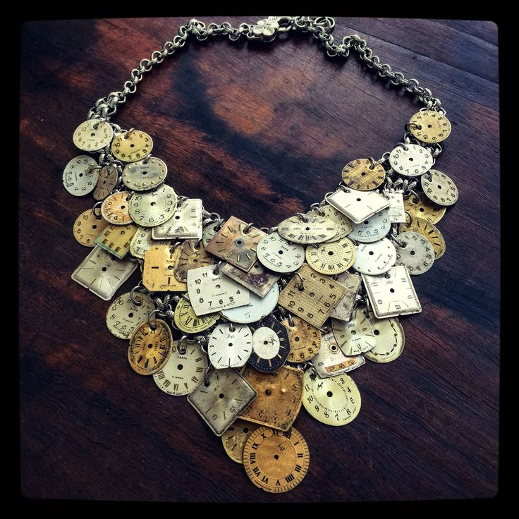 Too much time! Vintage & Antique Watch Face Necklace www.bysabine.com