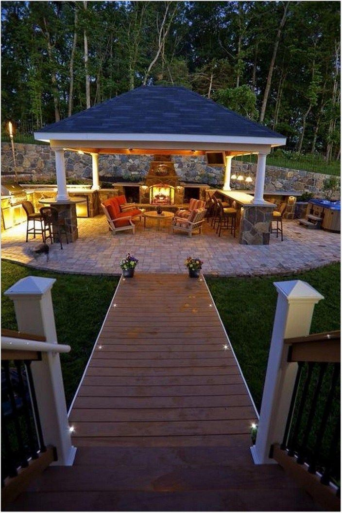 20 Backyard Patio Cover Design Protects Outdoor Kitchen Vancouver 13 In 2020 With Images Backyard Patio Designs Backyard Patio Patio Design
