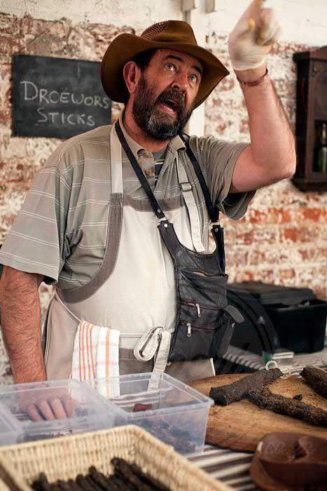 Der Biltong Mann beim Neighbourgoods Market in Kapstadt