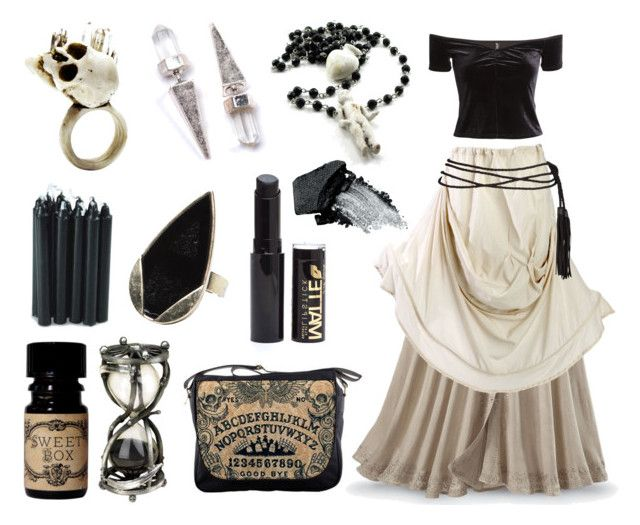 """""""Death Diviner"""" by maggiehemlock ❤ liked on Polyvore featuring Macabre Gadgets, H&M, Hourglass Cosmetics and Gorgeous Cosmetics"""
