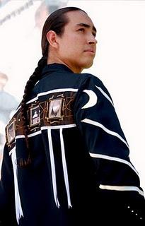 nice ribbon shirt - very striking Native American male