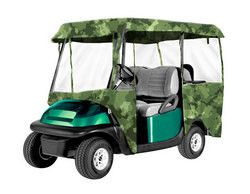 Armor Shield Deluxe 4 Sided Golf Cart Enclosure 4 Passenger, Fits Carts up to 95'' Length (Camo Color)