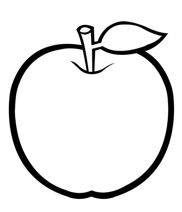 Apple Coloring Pages For Preschoolers Free Fruit Coloring Pages