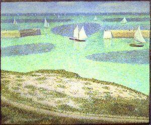Fishing Fleet at Port-en-Bessin - (Georges Pierre Seurat)