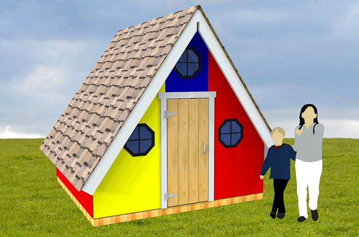 A frame playhouse plan products playhouse plans and a frame for Whimsical playhouse blueprints