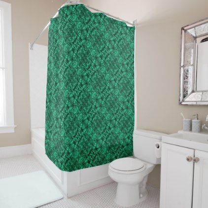 Aluminum Foil Design in Teal Shower Curtain - shower curtains home decor custom idea personalize bathroom