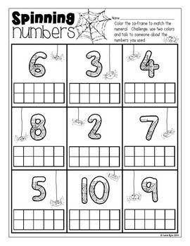 Print and Go! Halloween Math and Literacy met echte spinnetjes