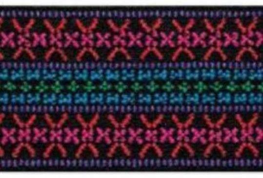 Λάστιχο Prym ζώνης με το μέτρο. (Τιμή ανά 1 μέτρο) Χρώματος: Ζακάρ Λουλούδια Μέγεθος: Φάρδος 50mm