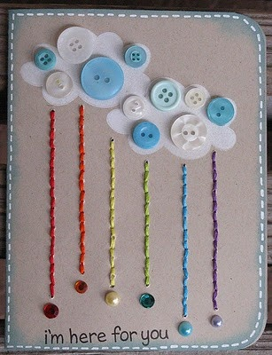 Scrapbooking cards #scrapbooking #buttons - even though I don't scrapbook, I love this card!