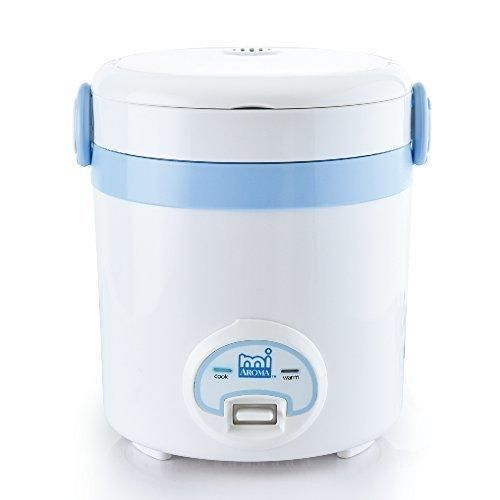 Aroma Housewares MRC-903BL Mi 3 Cup (Cooked) (1.5 Cup Uncooked) Cool Touch Mini Rice Cooker  Blue