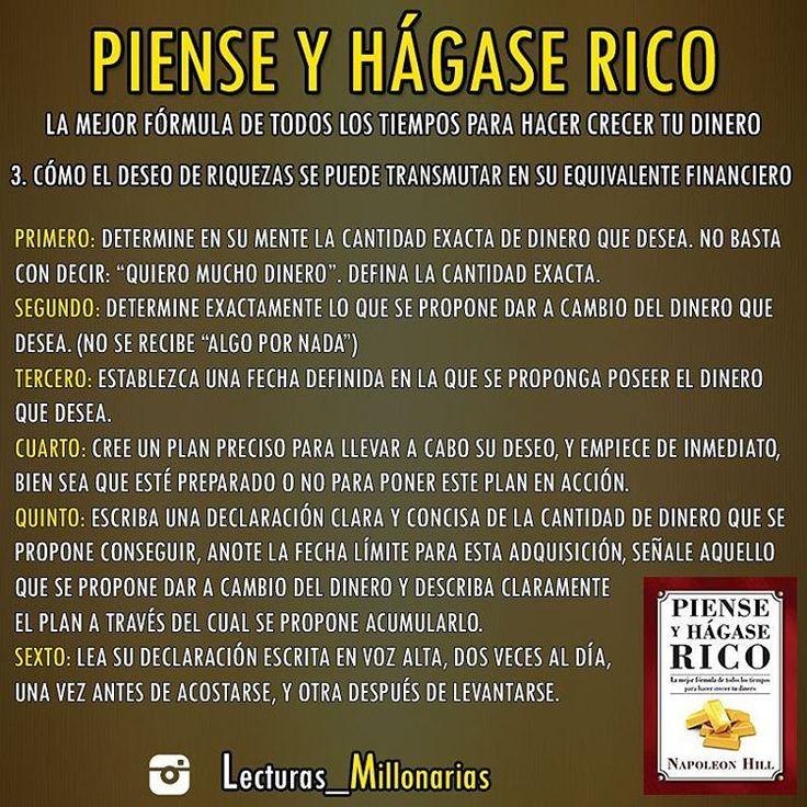 """376 Me gusta, 6 comentarios - RICARD H.C - CUENTA OFICIAL © (@lecturas_millonarias) en Instagram: """"LIBRO: """"PIENSE Y HÁGASE RICO"""" AUTOR: Napoleon Hill  PARTE 4 __________________…"""""""